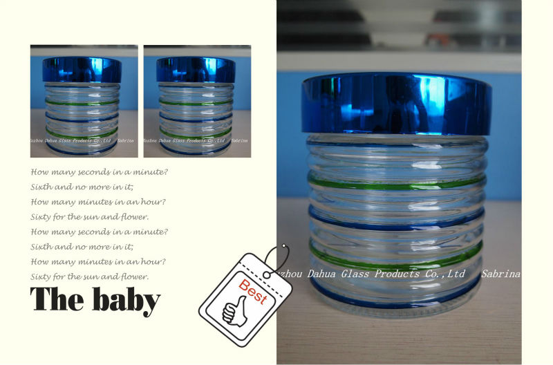 Colorful Glass Storage Canister Food Storage Jar with Lid