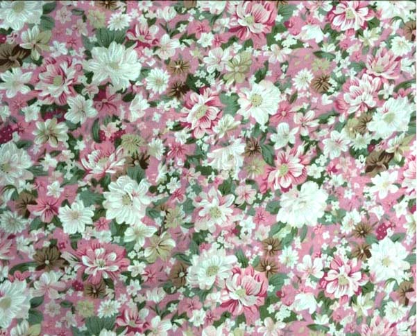 Man-Made Cotton Allover Printed Flowers Rayon Fabric
