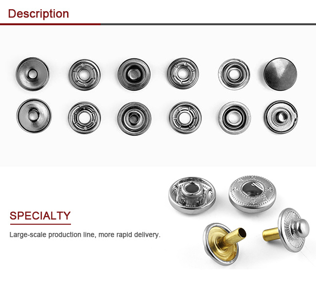 Prong Snap Button, Pearl Snap Button, Button, Metal Button