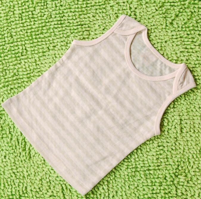 Organic Cotton Baby Green Striped Vest
