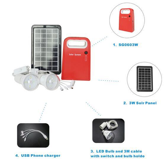 3W/9V Solar Lights, Solar Lighting Kit, Slar Home Lighting System