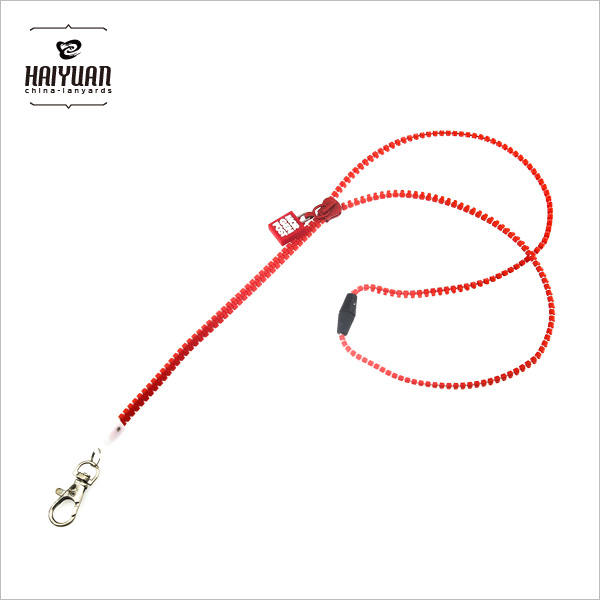 Personalised Plastic Zipper Lanyard/ Zip Lanyard