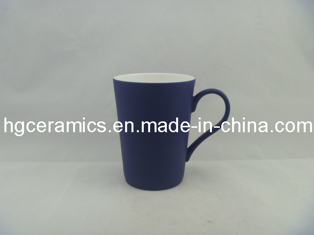Black Color Change Latte Fine Bone China Mug; Sublimation Mugs