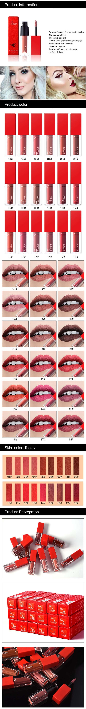 New 21 Colors Long Lasting Waterproof Lip Gloss Matte