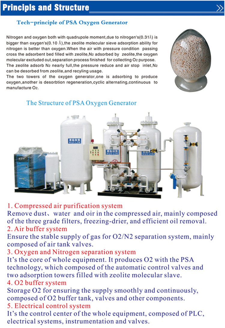 High Purity Oxygen Generator for Hospital/Health/Industry