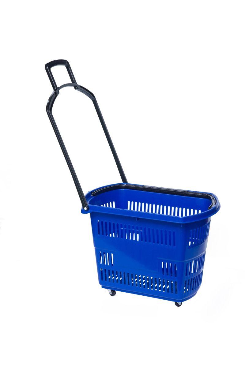 Four Wheel Rolling Store Basket