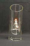 Heat-Resistant Candleholder Candlestick Made by Borosilicate Glass