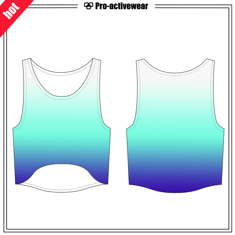 OEM Factory Sexy Loose Sexy Girl Yoga Tank Top (women crop top)