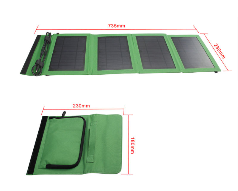 Manufacturer 14W Foldable Fabric Cloth Bag Solar Charger for Laptops