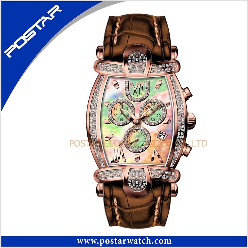 Psd-2326 Customized Fashion Automatic Mechanical Ladies Wrist Watch with Swiss Quality