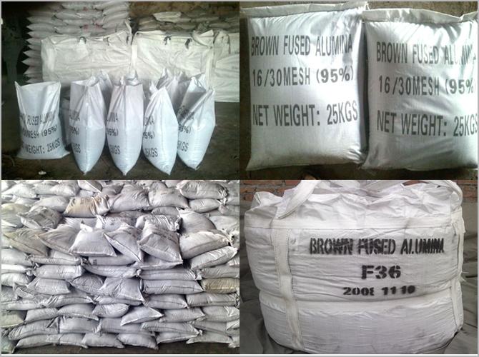 95% Polishing Bfa Brown Aluminum Oxide Plant