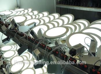 Factory Wholesale LED Panel Light 6W12W16W24W Round Ce RoHS Glass