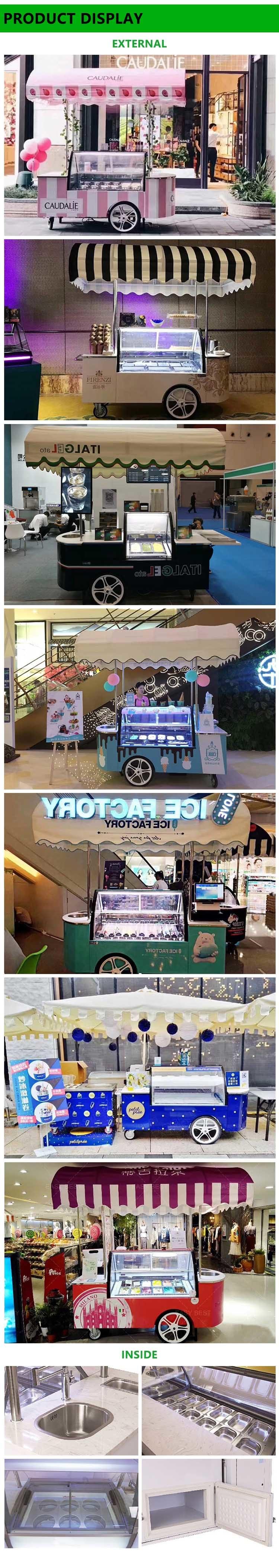 2018 Fashionable Ice Cream Cart Trailer
