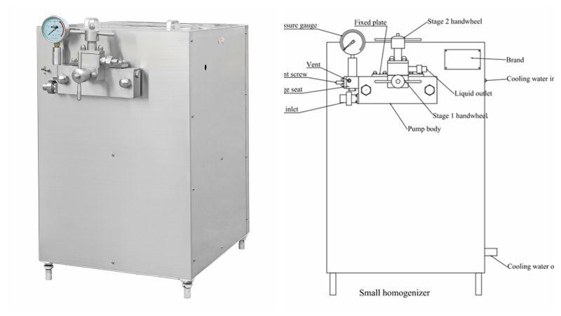 Three Pistons Vacuum Homogenizer (GJB1000-30)
