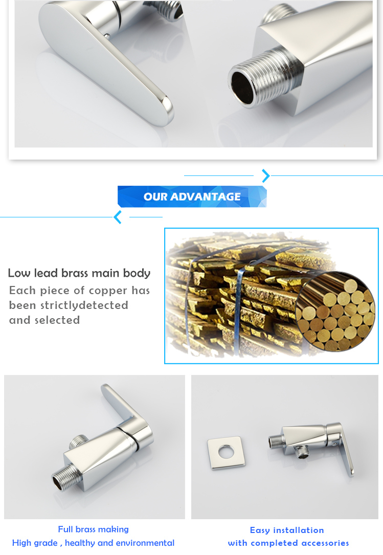 Low Price Modern Brass Wall Mounted Copper Valve