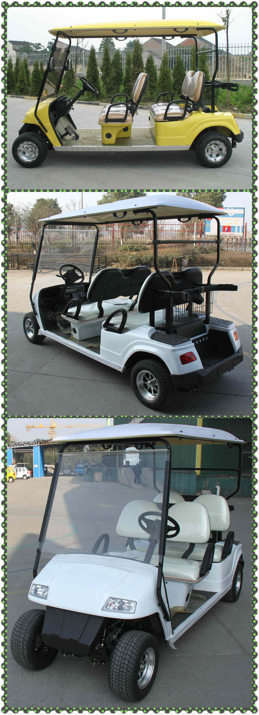4 Seaters Mini Electric Golf Carts for Wholesale