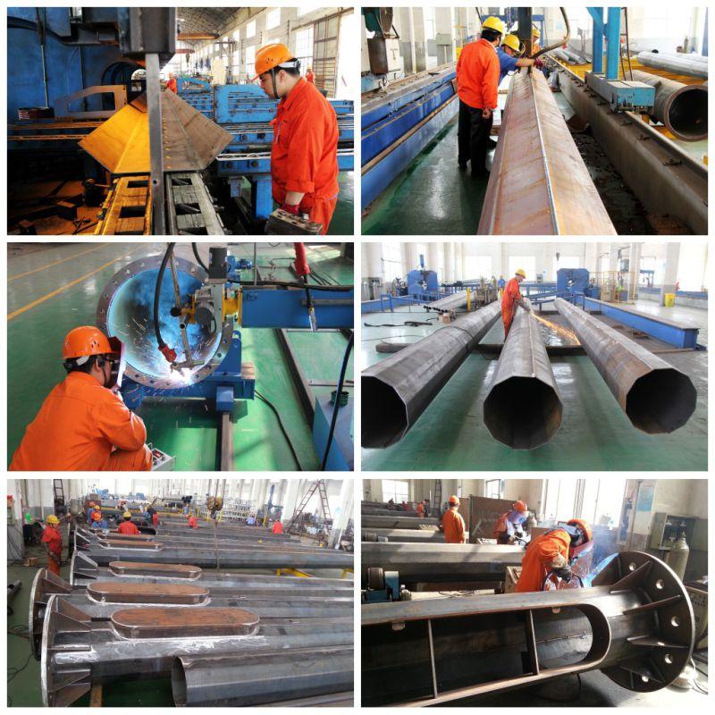 69kv Philippine Nea 45FT Steel Electric Pole for Transmission Line