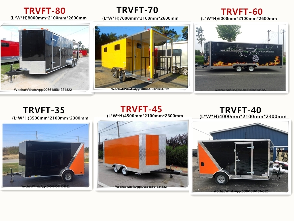 New 5 Meters Enclosed Concession Food Vending BBQ Porch Trailer