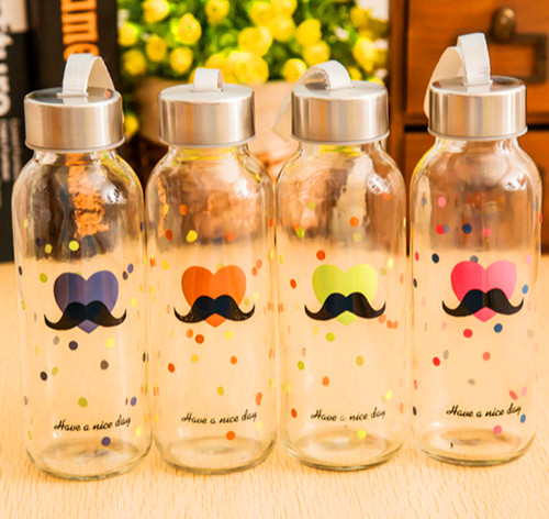Customized Logo Various Designs Sport Glass Bottle Sport Water Bottle