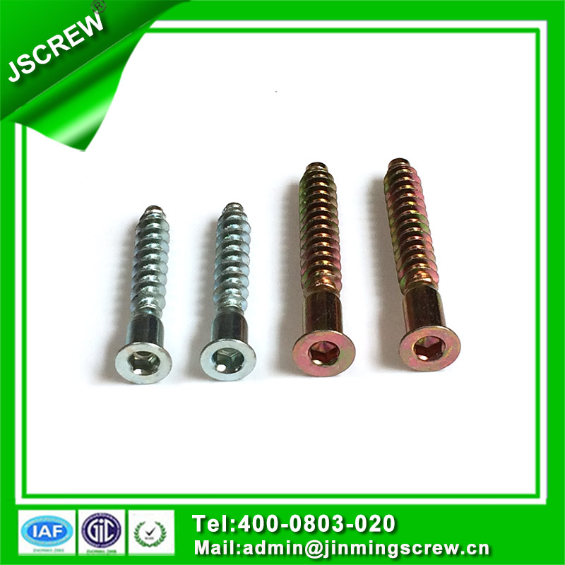 Zinc Plated Steel M3 M4 Screw for Assemble Furniture