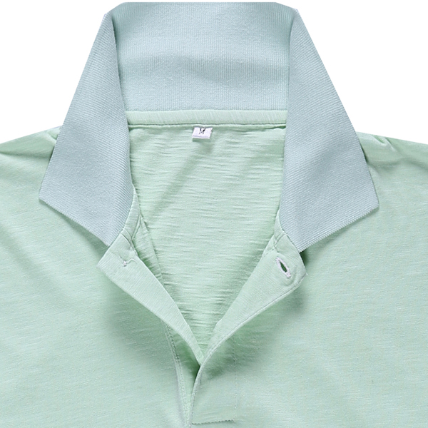 Plain Green Lightweight Bamboo Polo Shirts