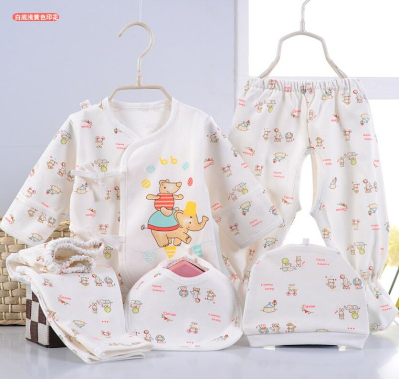Newborn Baby Printed 5PCS Infant Apparel