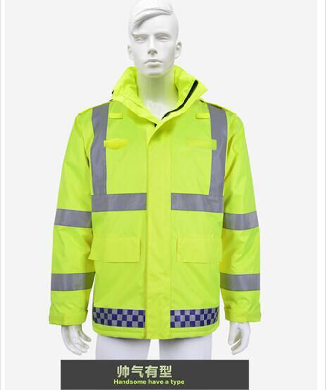 Hi-Vis Waterproof Traffic Police Jacket