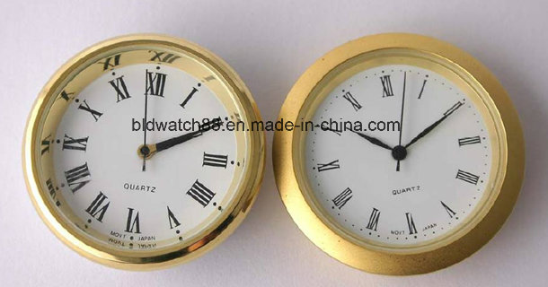 Promotional Analog Quartz Mini Metal Clock Inserts with Custom Logo
