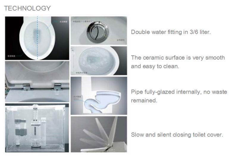 China New Design Ceramic Floor Mounted Toilet Bidet