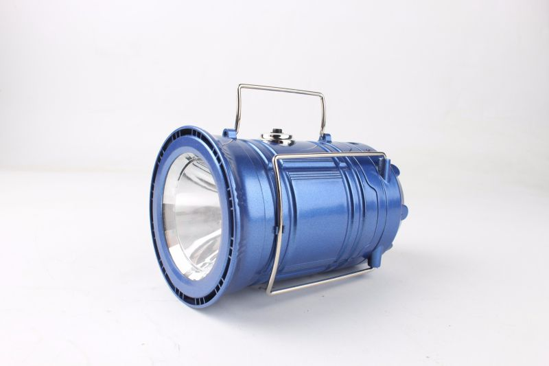 Outdoor Portable Solar Camping Lantern with AC Port