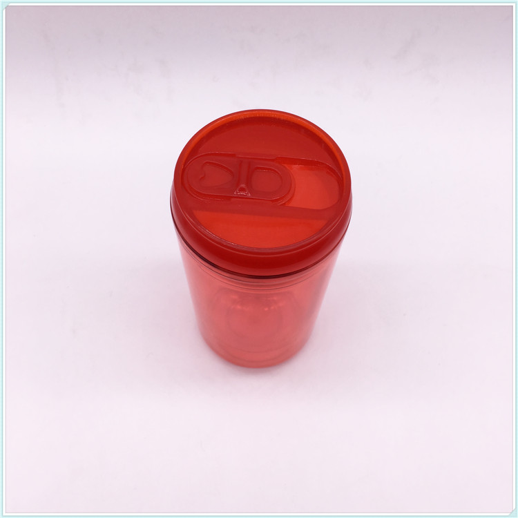 Customized Design 300ml Single Wall Insulated Plastic Advertising Water Mug