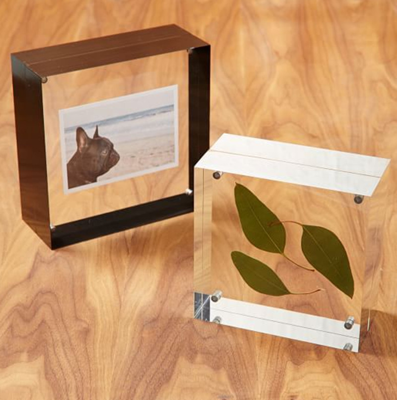 Rustic Clear Picture Frames Acrylic Photo Frame for Sale