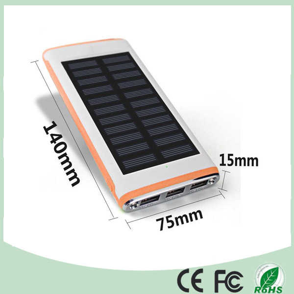 Ultra Thin 3 USB Solar Battery Power Bank Charger for Mobile Phone and Laptop (SC-7688)