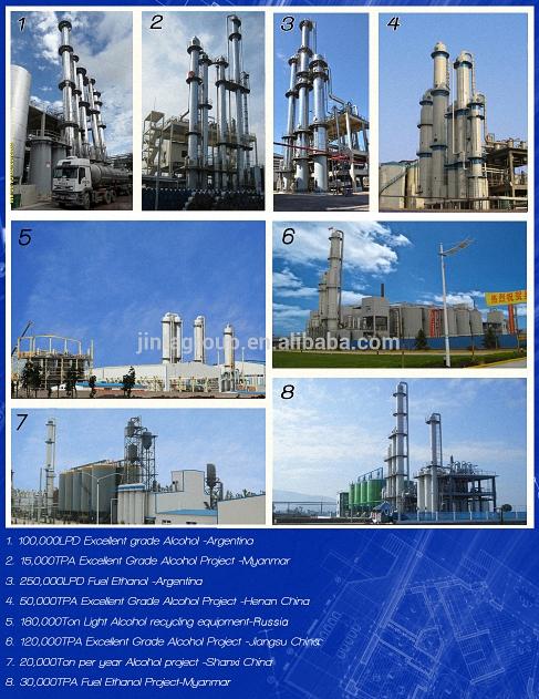 Alcohol/Ethanol Equipment Supplier Condenser Alcohol/Ethanol Equipment 95%-99.9%