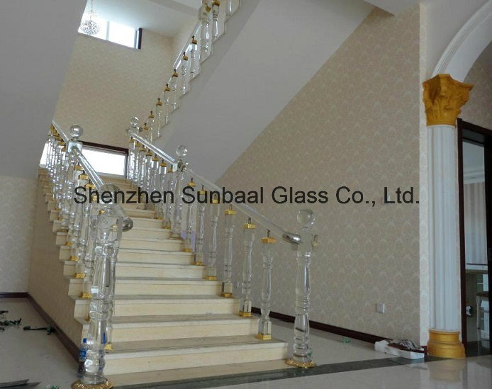 Glass Staircase and Glass Handrail for Home Decoration