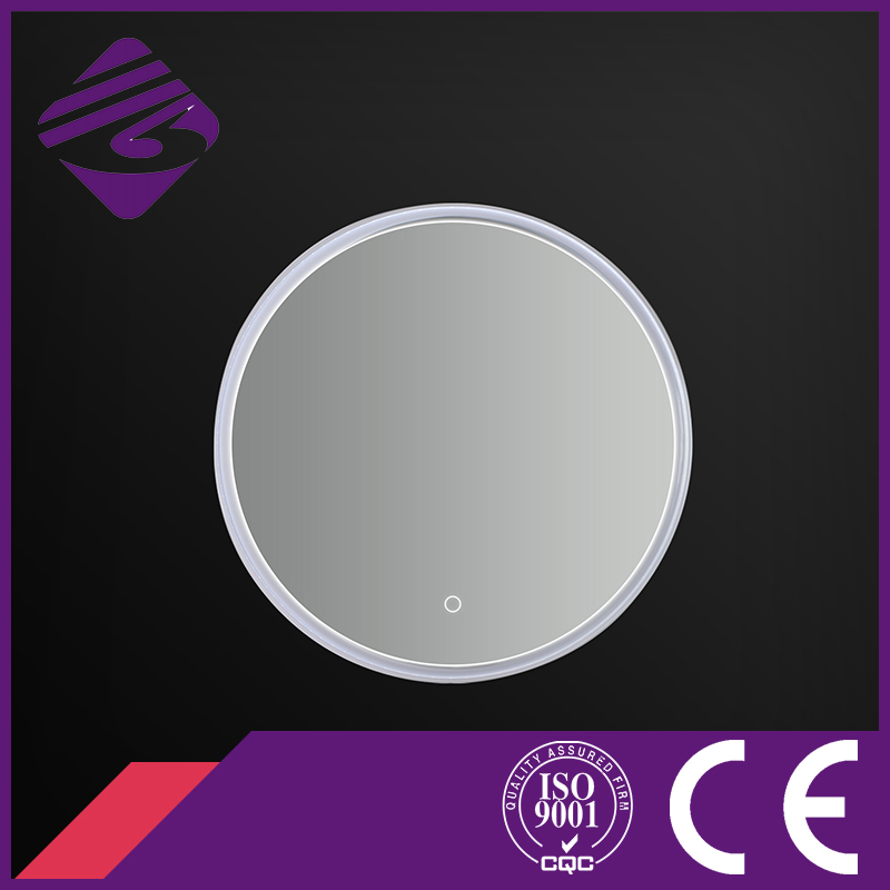 LED Backlit Touch Screen PVC Frame Bathroom Mirror with Clock