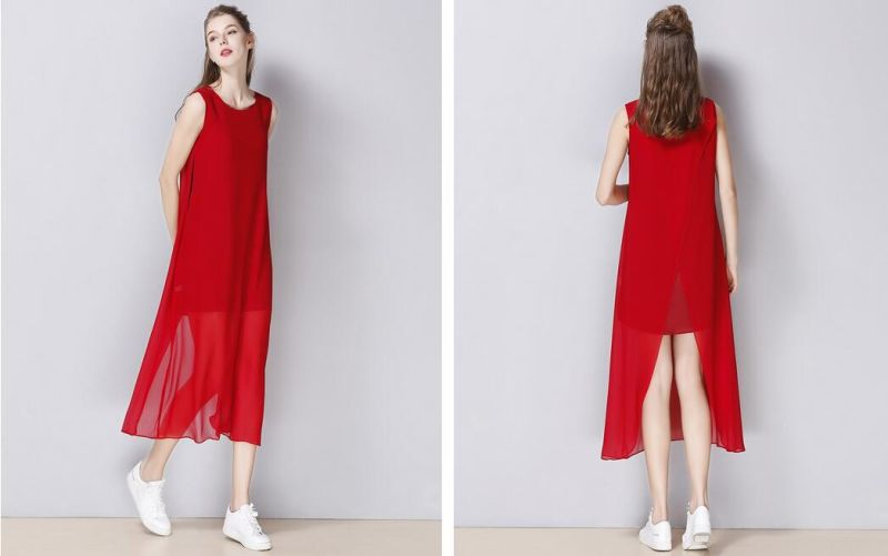 Summer Sleeveless Round-Neck Fashion Women's Dress