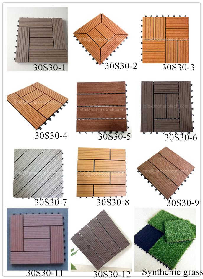 Warranty! Natural Wood Surface Composite Patio Deck Tiles