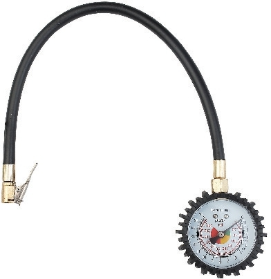 2.5inch Dial Tire Pressure Gauge with Flexible Hose