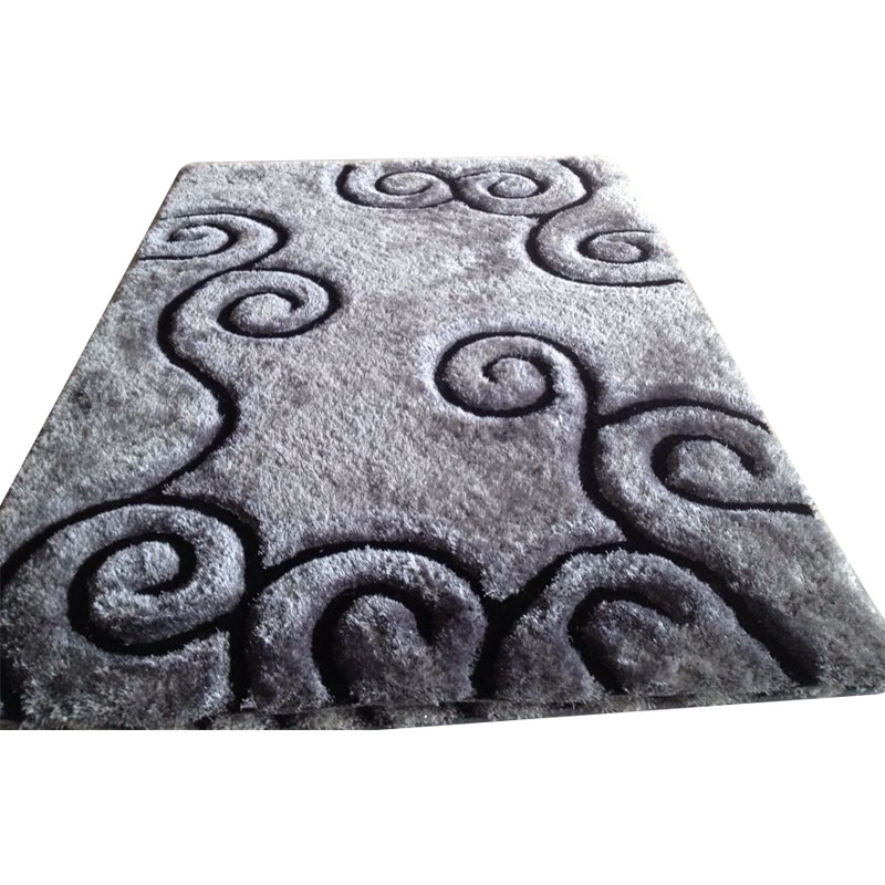 Polyester Modern Shaggy Rugs with 3D Effects
