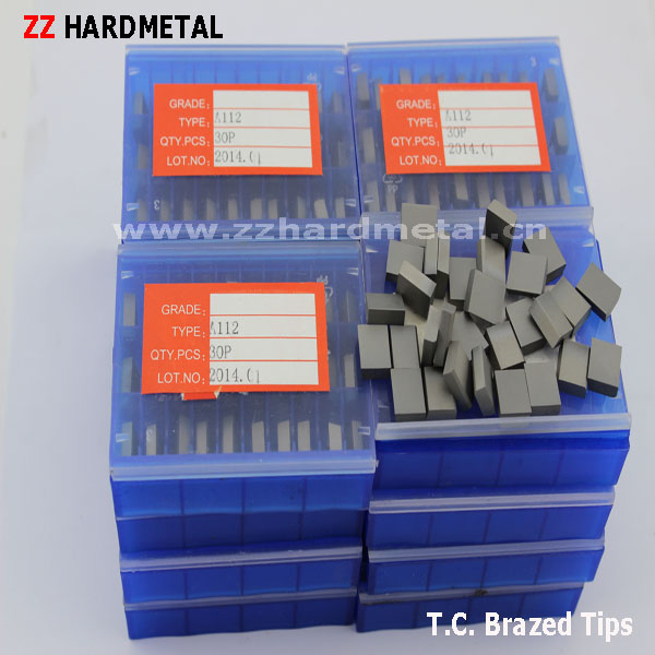 P30 K20 M20 Tungsten Caribde Brazed Insert Tips