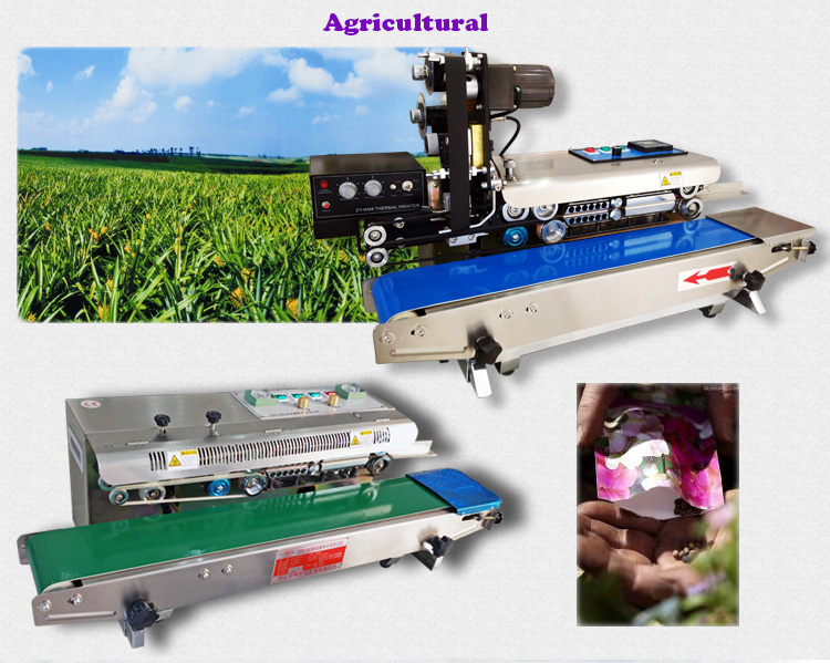 Automatic Continuous Sealing Machine Sealer for Complex Laminating Film with Heat Seal Bag Closing Sack Packing Device