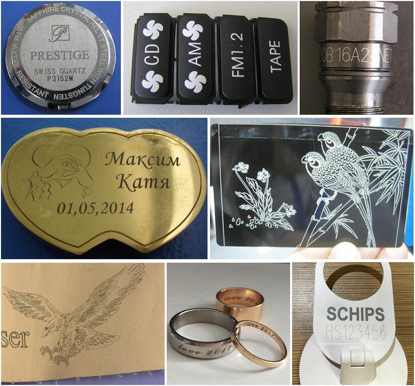 Fiber Laser Marking Machine Marker for Gold Aluminum