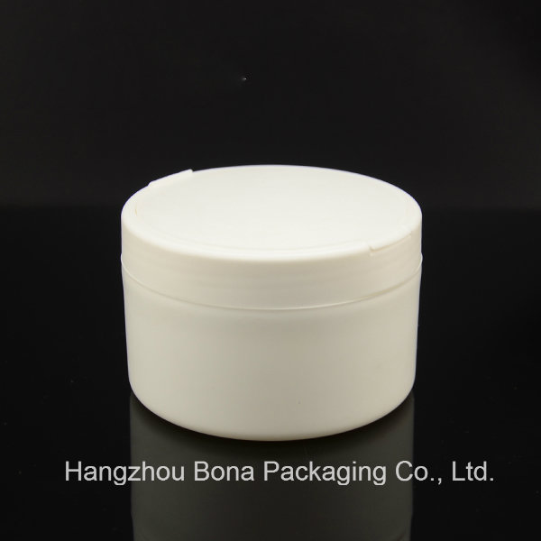 White Round Powder Box with Straight Edge
