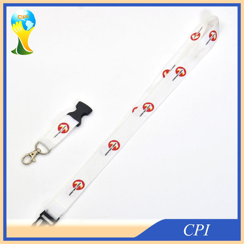 White Screen Lanyard with Plastic Buckle
