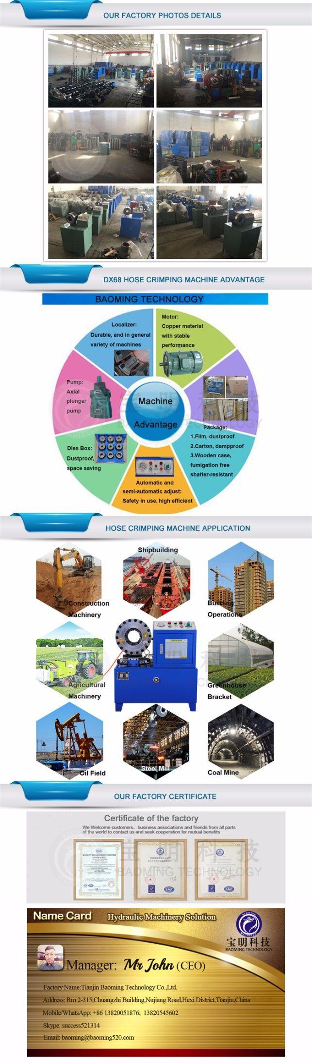 China Suppliers Energy Saving Ce Hydraulic Hose Crimping Machine