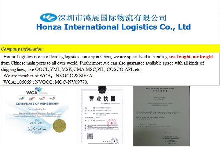 International Reliable Sea Freight From China to Chennai/Calcutta/Nhava Sheva