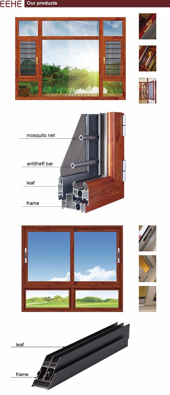 Aluminium Sliding Window and Door with Grill/Net Design