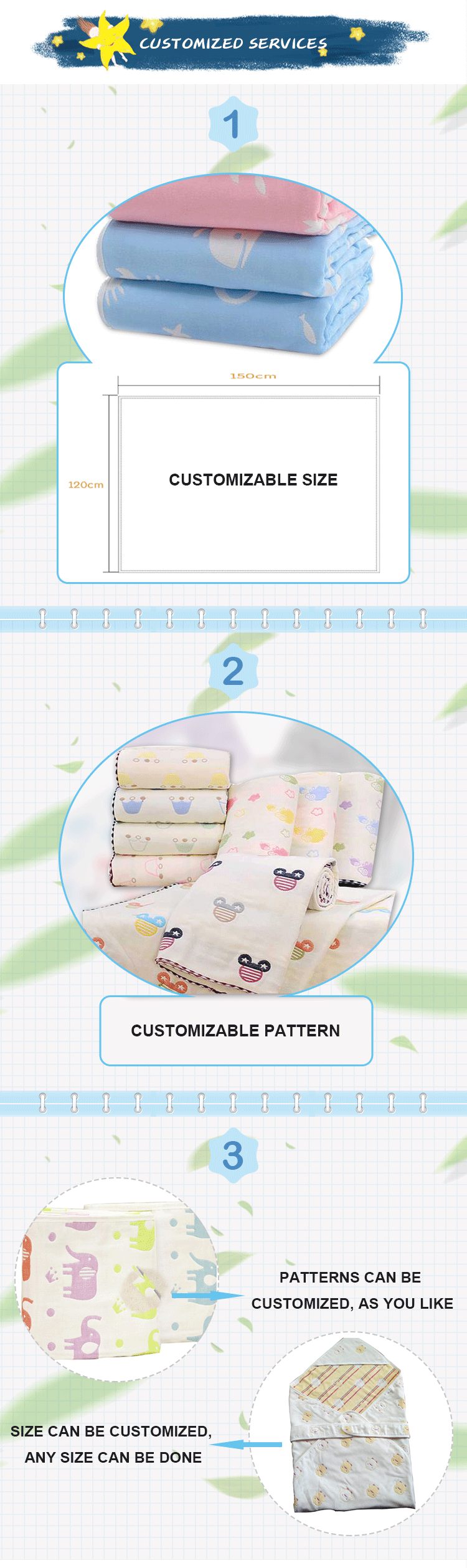 Hot Selling Baby Cotton Swaddle Blanket