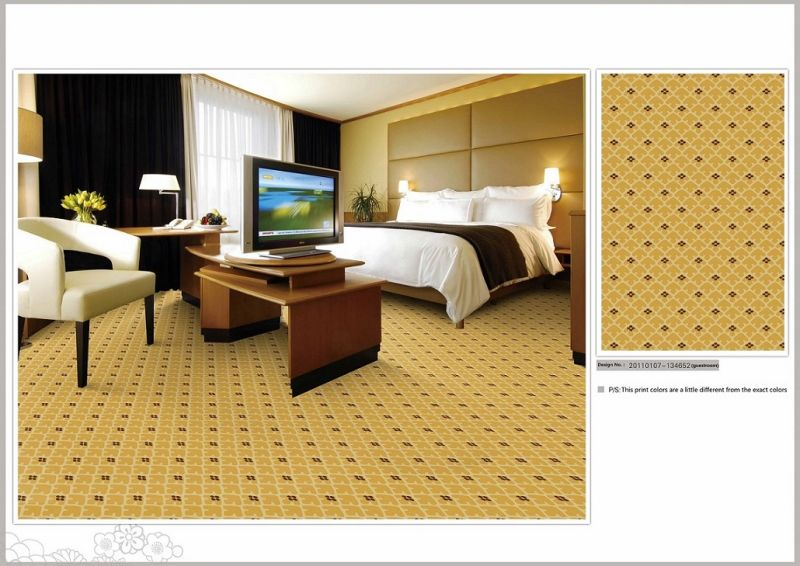 Machine Made Printed Polyaime Wall to Wall Hotel Carpet